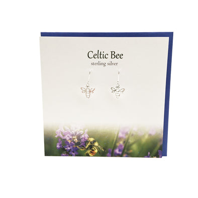 Celtic Bee sterling silver earrings | The Silver Studio Scotland