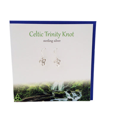 Celtic trinity knot sterling silver earrings | The Silver Studio Scotland