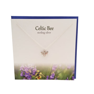 Celtic Bee silver pendant | The Silver Studio Scotland