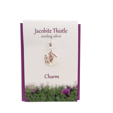 Jacobite Thistle charm | Silver clip on charm| The Silver Studio Scotland