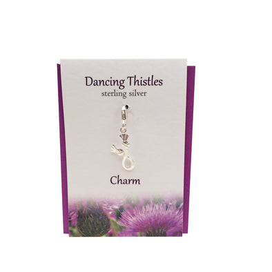 Dancing Thistles charm | Silver clip on charm| The Silver Studio Scotland