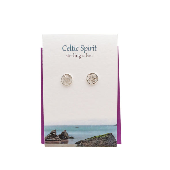 Celtic Spirit silver stud earrings| The Silver Studio Scotland