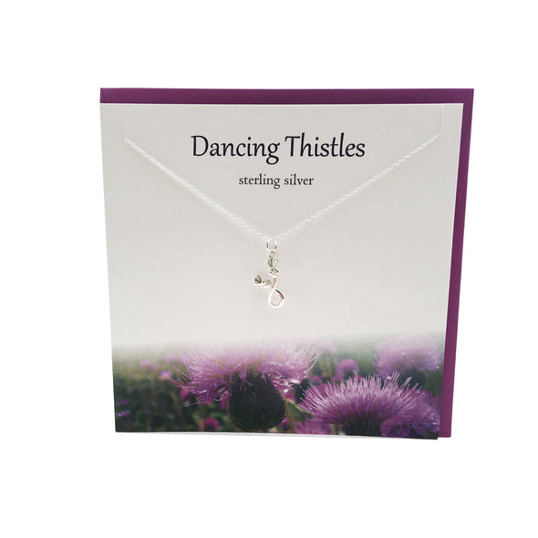 Dancing Thistles silver necklace | The Silver Studio Scotland