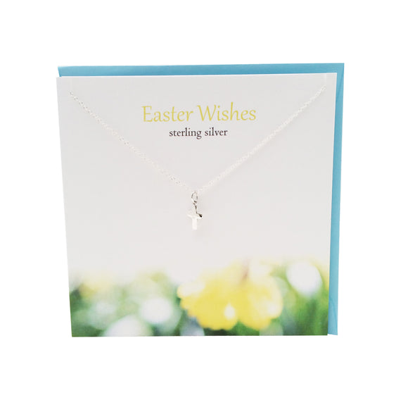 Easter Wishes Cross silver necklace | The Silver Studio Scotland