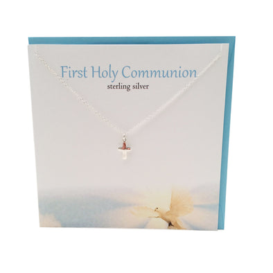 First Holy Communion cross silver necklace | The Silver Studio Scotland