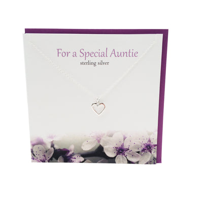 For a Special Auntie silver necklace | The Silver Studio Scotland