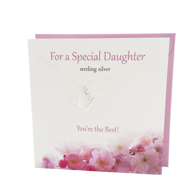 For a Special Daughter silver necklace | The Silver Studio Scotland