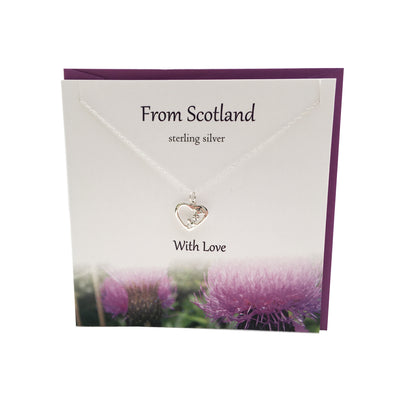 From Scotland with Love Thistle Heart  silver necklace | The Silver Studio Scotland