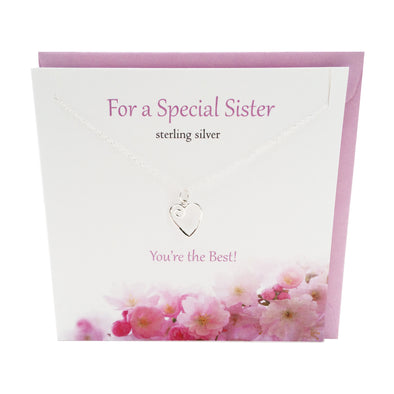 For a Special Sister silver necklace | The Silver Studio Scotland