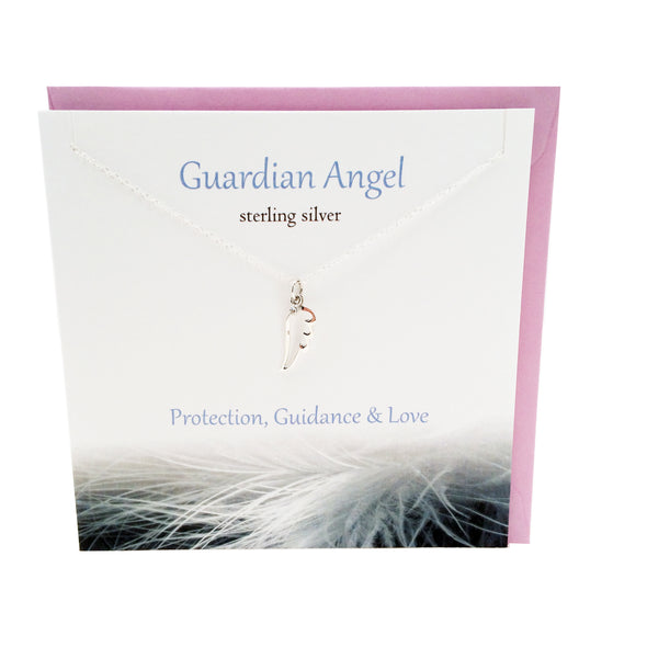 Guardian Angel Wing silver necklace | The Silver Studio Scotland