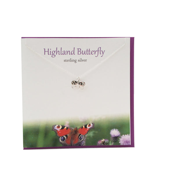 Highland Butterfly silver pendant The Silver Studio Scotland