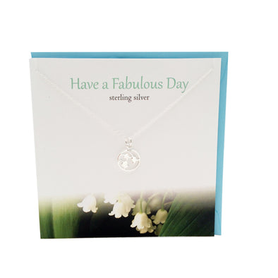 Have a Fab day silver lily of valley necklace | The Silver Studio Scotland