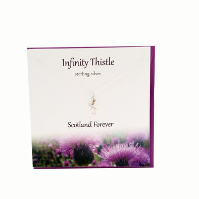 Infinity Thistle  silver necklace | The Silver Studio Scotland