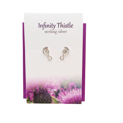 Infinity Thistle silver stud earrings| The Silver Studio Scotland