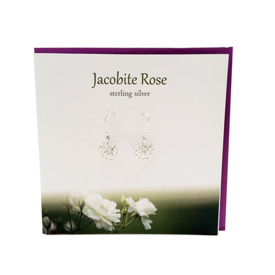 Jacobite Rose Scotland silver earrings | The Silver Studio Scotland