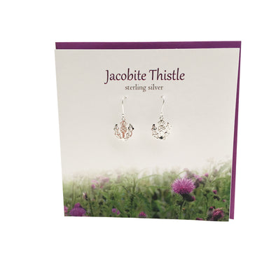 Jacobite Thistle Scotland silver earrings | The Silver Studio Scotland