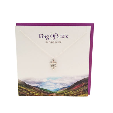 King of Scots silver crowned trinity knot necklace | The Silver Studio Scotland