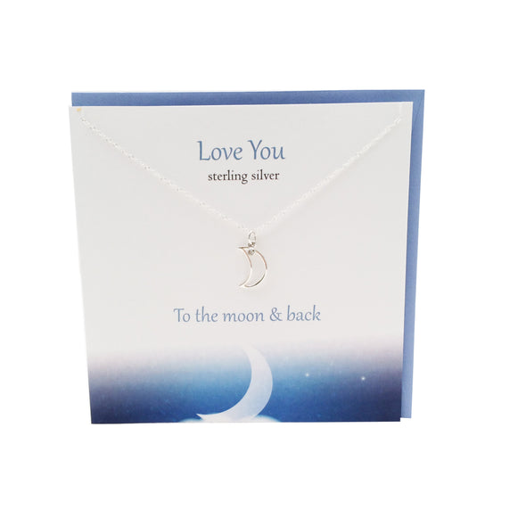 Love you to the Moon and Back silver necklace | The Silver Studio Scotland