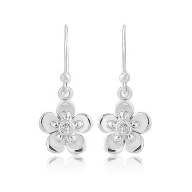 Forget Me Not silver small drop earrings| Glenna Jewellery Scotland
