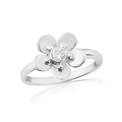 Glenna Forget Me Not Ring | Silver Scottish Designer Jewellery