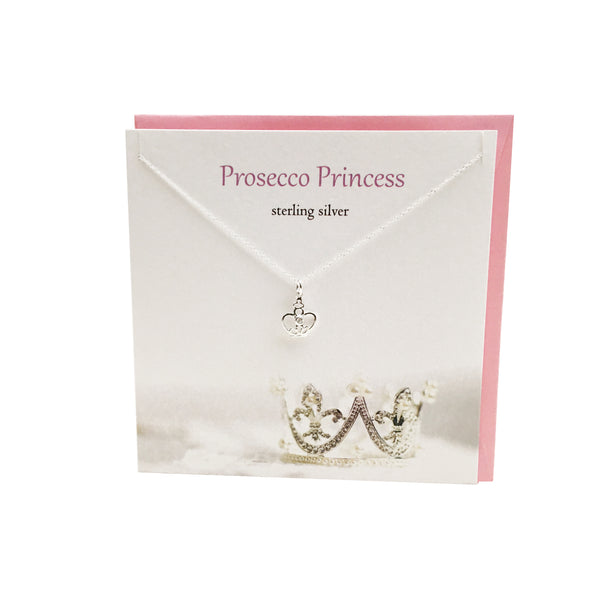Prosecco Princess Crown  silver necklace | The Silver Studio Scotland