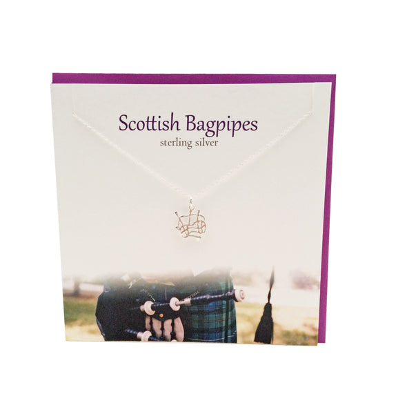 Scottish Bagpipes silver pendant |The Silver Studio Scotland
