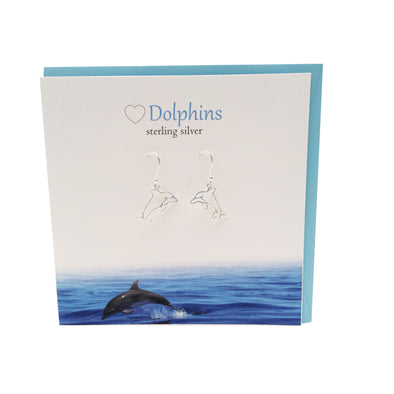 Dolphin sterling silver earrings | The Silver Studio Scotland