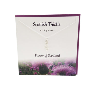 Scottish Thistle Flower of Scotland necklace