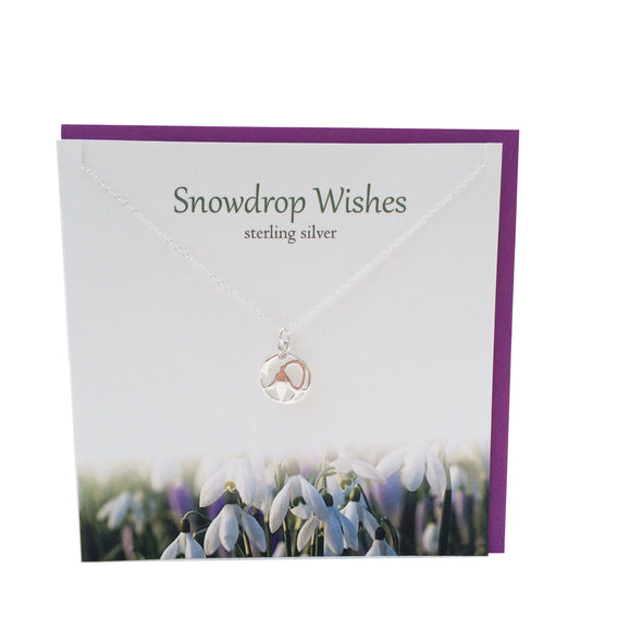 Snowdrop Wishes silver pendant |The Silver Studio Scotland