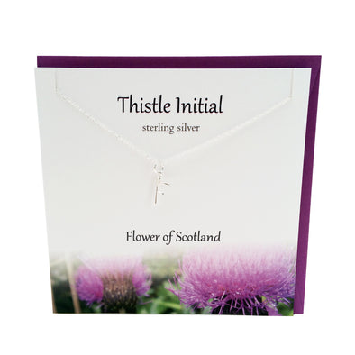 Thistle  Initial 'F' silver necklace | The Silver Studio Scotland