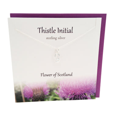 Thistle  Initial 'G' silver necklace | The Silver Studio Scotland