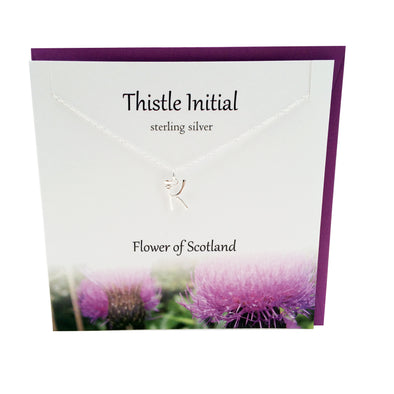 Thistle  Initial 'K' silver necklace | The Silver Studio Scotland