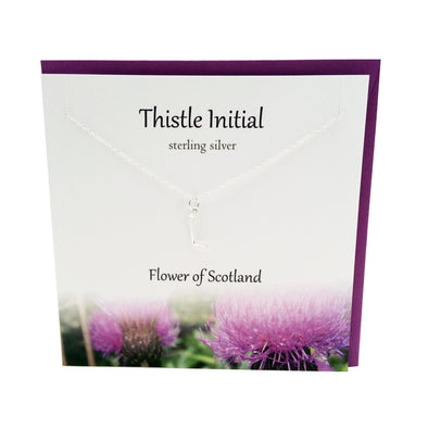 Thistle  Initial 'L' silver necklace | The Silver Studio Scotland