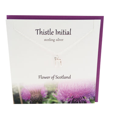 Thistle  Initial 'M' silver necklace | The Silver Studio Scotland