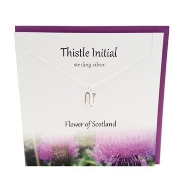 Thistle  Initial 'N' silver necklace | The Silver Studio Scotland