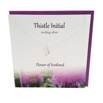 Thistle  Initial 'O' silver necklace | The Silver Studio Scotland