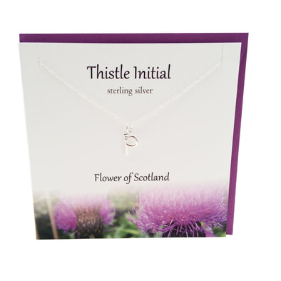 Thistle  Initial 'P' silver necklace | The Silver Studio Scotland