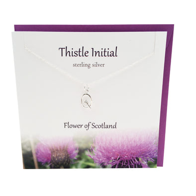 Thistle  Initial 'Q' silver necklace | The Silver Studio Scotland