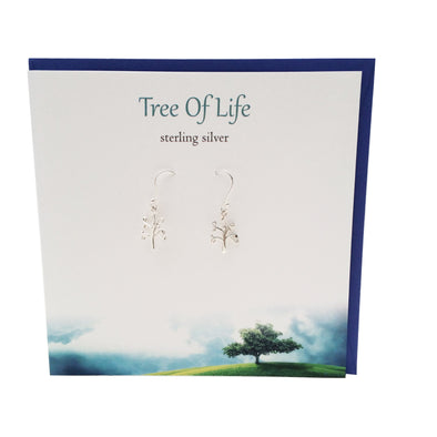 Tree of life Celtic & Scottish silver earrings | The Silver Studio Scotland