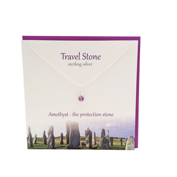 Travel Stone silver amethyst pendant | The Silver Studio Scotland