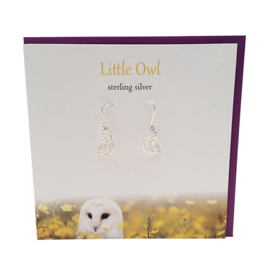 Little Owl sterling silver earrings | The Silver Studio Scotland