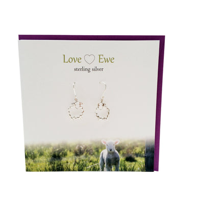 Love Ewe sterling silver earrings | The Silver Studio Scotland