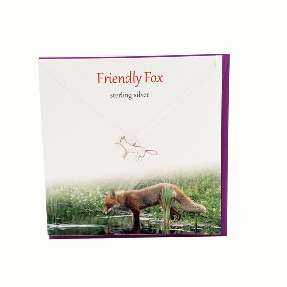 Friendly Fox silver necklace | The Silver Studio Scotland