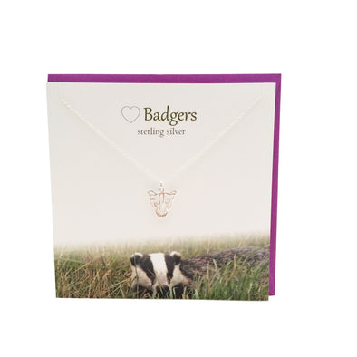 Badger silver necklace | The Silver Studio Scotland