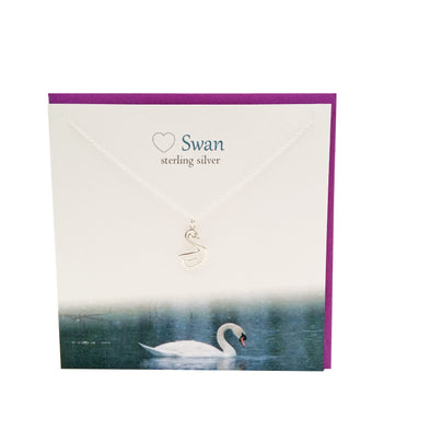 Swan silver necklace | The Silver Studio Scotland
