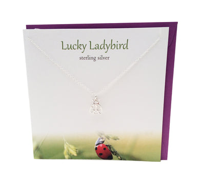 Lucky Ladybird silver necklace | The Silver Studio Scotland