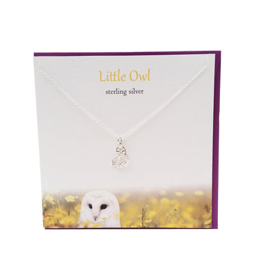 Little Owl silver necklace | The Silver Studio Scotland