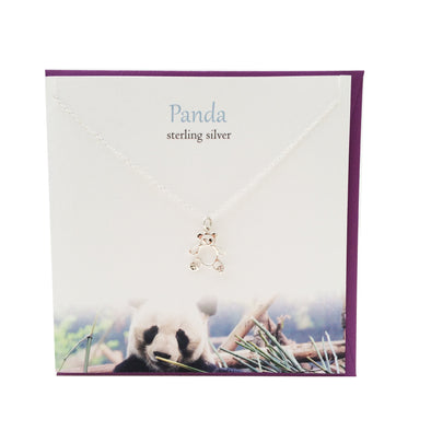 Panda silver pendant | The Silver Studio Scotland