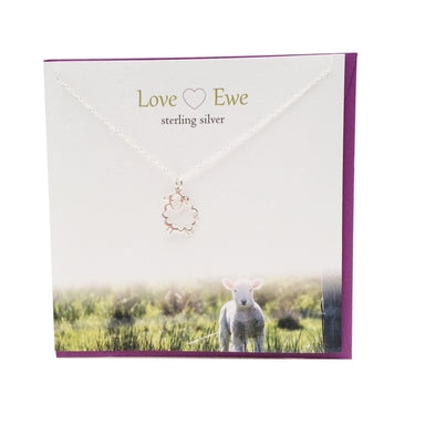 Love Ewe lamb  silver necklace | The Silver Studio Scotland