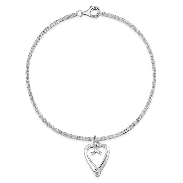 Celtic Eternal Heart Silver Bracelet | Glenna Jewellery Scotland